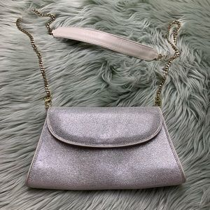 Abas Silver And White Metallic Leather Purse